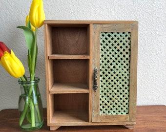 handmade wooden cupboard