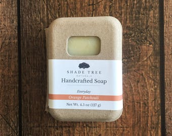 Orange Patchouli Soap. Handcrafted Soap. Vegan Soap. Orange Soap. Patchouli Soap. Natural Soap. Soap Gift Under 10. Small Batch Naturals