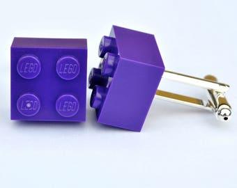 LEGO Brick Cufflinks - PURPLE