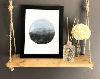 """Watercolor Digital Download """"Full Moon"""""""