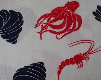 FISH FABRIC Fish Fabric 1 Yard Alexander Henry Fabric Marina 2007 - #K4
