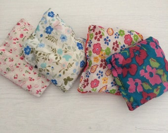 Set of four homemade hand warmers
