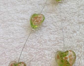 Green Murano glass necklace