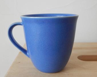 Scandinavian Vintage Höganäs Keramik Stoneware M- L Hellgren Blue Semi Matte Mug Pottery by Stengods Sweden Scandinavian Design