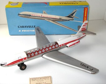 """ARNOLD (GERMANY) CARAVELLE Tinplate Jet - 15"""" - Boxed - rare"""