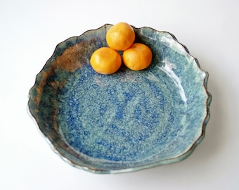 Handmade Serving Bowl, Salad Bowl Pottery, Pottery Pasta Bowl, Handmade Pasta Bowl, Ceramic Fruit Bowl, Wedding Gift, Large Ceramic Bowl