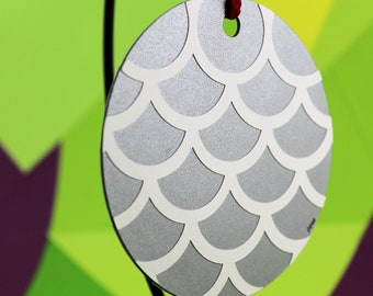 Silver Scales Paper Ornament