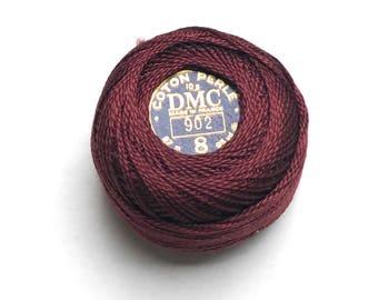 DMC 902 - Very Dark Garnet - Perle Cotton Thread Size 8