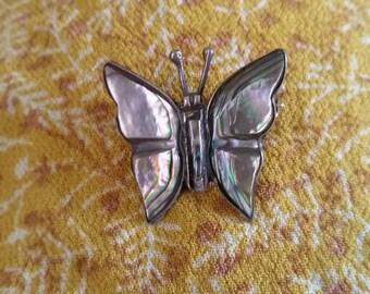Abalone Shell Butterfly Pin
