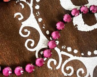 Swarovski Crystal Bracelet in Pink Peony