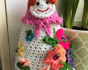 Russian doll , Babushkas, flowers, decorations , desk toy