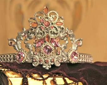 Metal crown, tiara, cake topper, crown decor, wedding decor, wedding crown, Mediterranea Design Studio