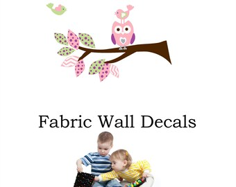 wall decal  Personalized Custom Monogram / Bird wall decal / Baby girl wall decal / great for playroom or nursery / your name wall art