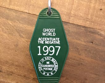 Ghost World - vintage style key chain tag