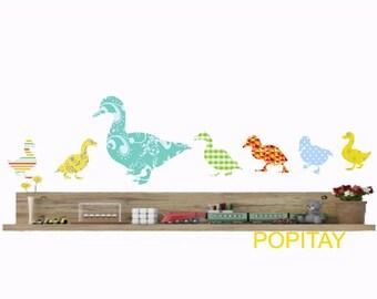 Duck Wall Decals, Farm Animals, Nursery Ducks, Ducklings decor, Baby ducks, Kids Wall Decor, Girls Room Decor, Gift for Kids, Duck Stickers