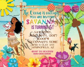 Moana Birthday Invite