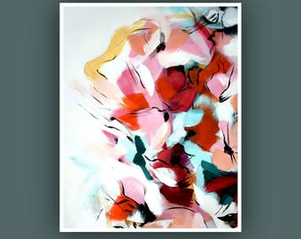 Art Prints, Contemporary art, Abstract Painting, Art Prints, Modern Abstract Painting, Flower Painting, Abstract Art