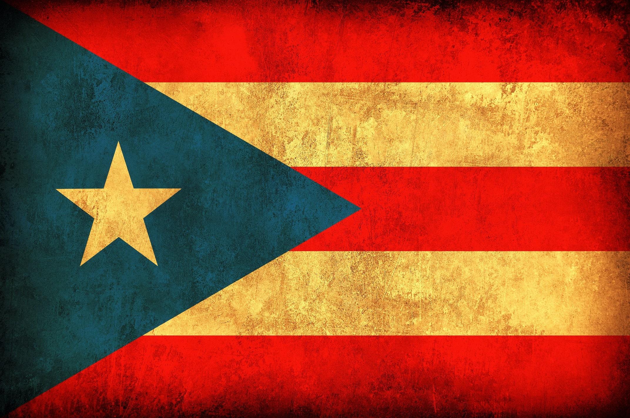 Vintage Puerto Rico Flag on Canvas, Wall Art, Pierto Rico Photo flag ...
