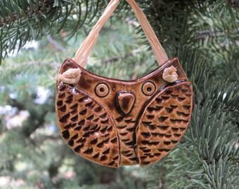 Pottery, Owl, Ornament, Souvenir, Cermamic, Handmade