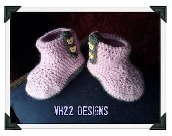 Baby, Baby Boots, Baby Booties, Girl, Baby Girl, Baby Girl Booties, Crochet Booties