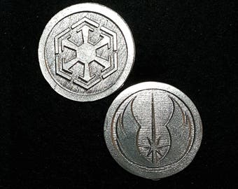 Jedi Sith Heads or Tails Pewter Flipping Coin