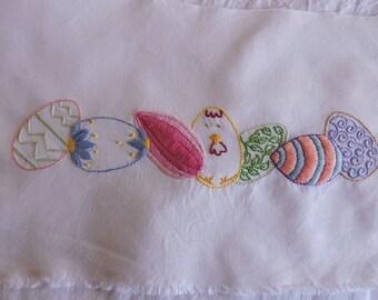 Easter Egg Border, Hand Embroidery Easter Egg Pattern, Easter Egg Border Embroidery Pattern