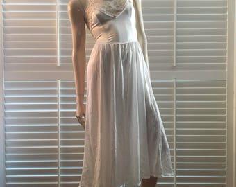 Vintage white maxi dress