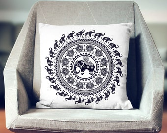 Elephant Décor | Elephant Gift | Elephant Throw Pillow | Elephant Cushion | Elephant Decoration | Elephant Pillow Cover | Elephant Pillow