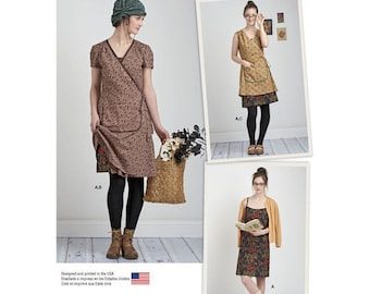 """Sewing Pattern for Vintage, Eclectic Style """"Granny Chic"""" or Boho Misses Dress, Simplicity Pattern 8186, Dottie Angel Frock Design"""