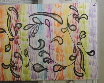 """Original Acrylic painting on canvas. """"springtime rebirth"""""""
