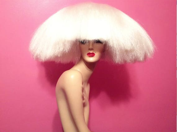 2010s Sia Wig Lace Front Custom Costume Professional Drag Queen Halloween Retro Pinup Platinum Blond Black Brown Auburn White