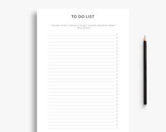 Basic to do list - printable,