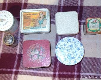 Vintage tins lot