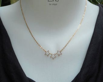 Stella necklace - Gold plated 24 k gold