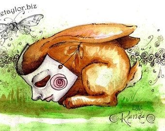 Eric's Rabbit, Greeting Card by Renae Taylor
