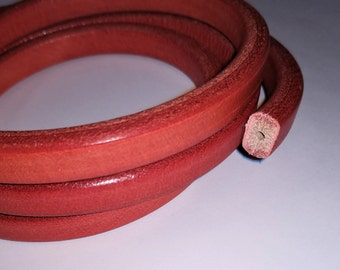 1 Meter Red Licorice Leather with center core for Licorice Leather Bracelets