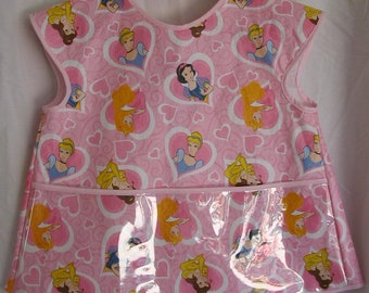 Plastic Bib/Apron for Toddler Disney Princess  SIZE 3