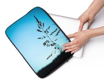 Printed Laptop Case, Blue Laptop Pouch, Nature Laptop Sleeve, Small Plush Padded Laptop Pouch, Padded Laptop Case, Blue Sky Macbook Case