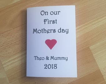 Mother's Day card, first Mother's Day, new mummy,personalised mothers day card, card for mummy, first Mother's Day as a mummy