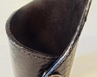 Asymmetrical Brown Alligator Bracelet