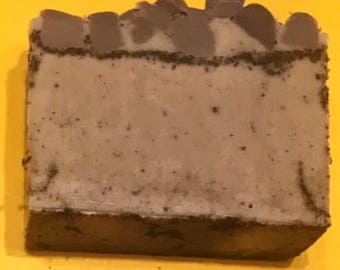 Coffee Scrub Soap- Cleansing Bar- Exfoliating Soap- Handmade- Soap Made With Real Coffee