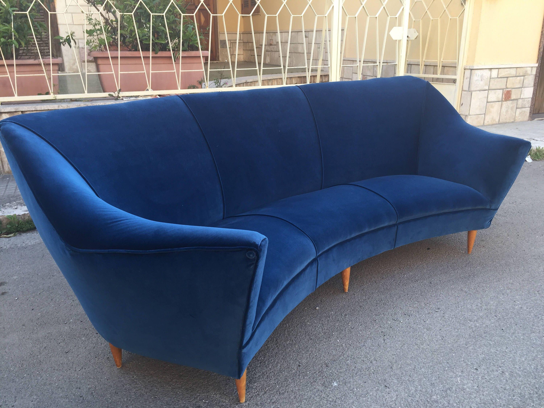 Raro divano ico parisi anni 50 60 for Divano anni 50