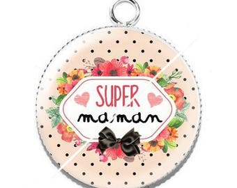 Resin cabochon pendant for MOM s7