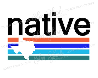 texas native svg, dxf, png, eps cutting file, silhouette cameo, cuttable, clipart, cricut file
