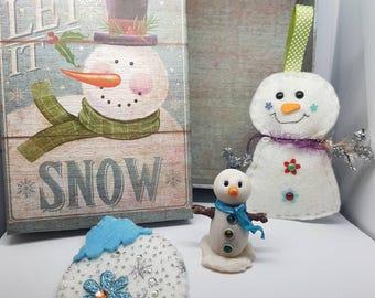 snowman gift, Christmas gift Box, snowman, snowman box, snowman ornament, Christmas gift, snowman set, let it snow, snowman decor, gift set