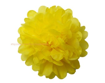 Lemon Tissue Paper Pom Pom 1 Large 14 inch Tissue Paper Flowers For Wedding Nursery Shower Party Decoration