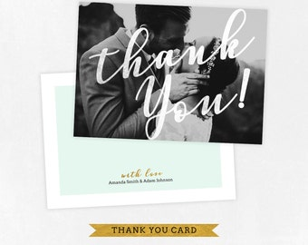 Wedding Thank you Card Template for Photographers, Wedding Photography - Photoshop Templates - Wedding Thank you Card - TK013