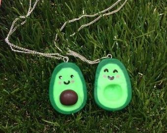 Avocado Best Friend Charm Necklaces