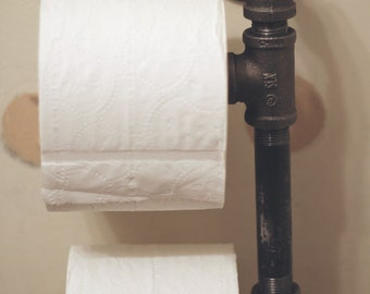 Modern Piping Toilet Paper Holder