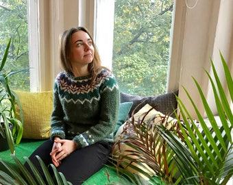 Handmade Icelandic sweater Size S